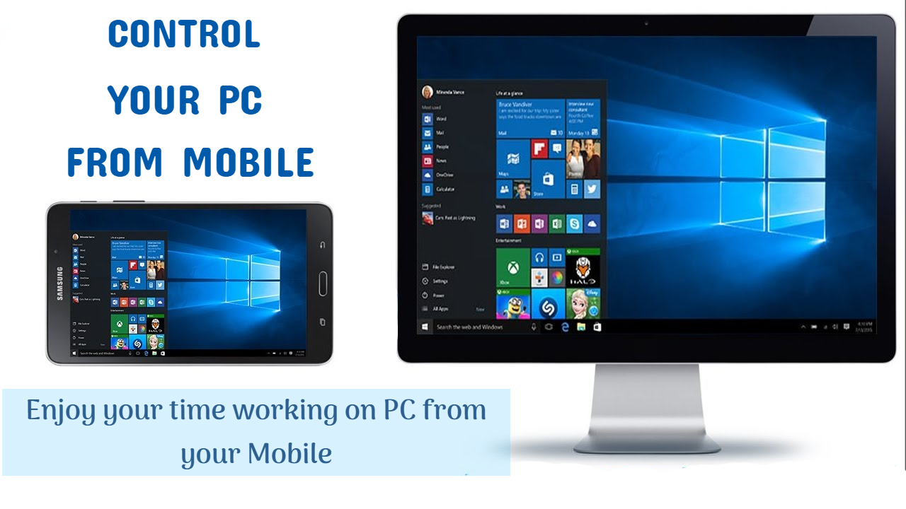 control your computer from mobile