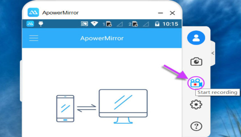 ApowerMirror to control computer from phone