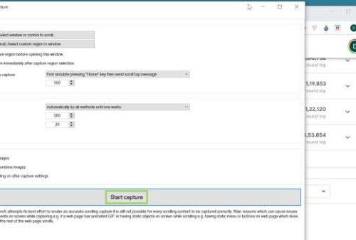 How to take scrolling screenshot on windows 10