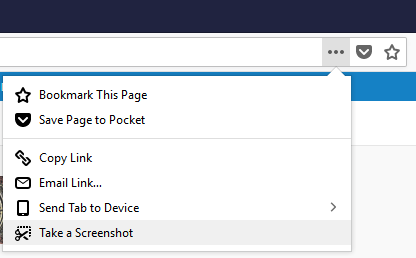 How to take a long screenshot in firefox