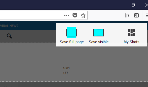 How to take a scrolling screenshot in firefox