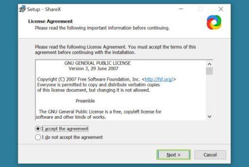 Take long screen shot using ShareX