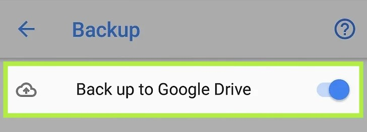 Enable Backup to Google Drive
