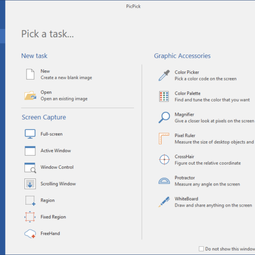 take long screenshot on windows using picpick