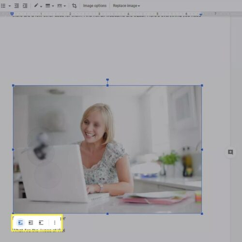 How to rotate an image in google docs using image options