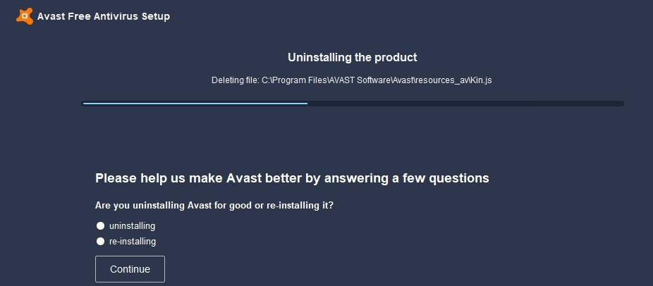 Uninstall Avast with Iobit