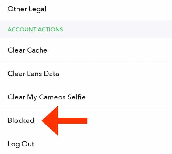 How to unblock someone on Snapchat.